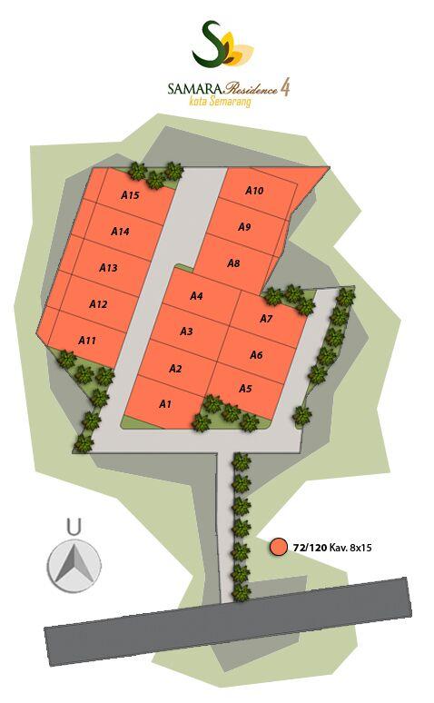 Rumah KPR Syariah Semarang Samara Residence 4 Denah lokasi