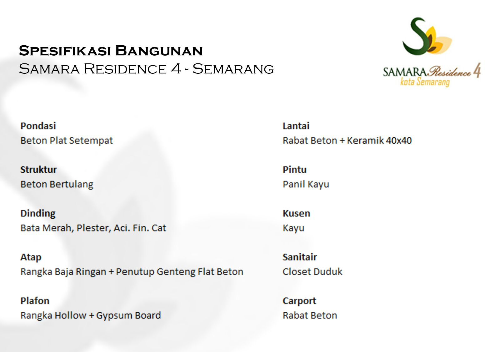 Rumah KPR Syariah Semarang Samara Residence 4