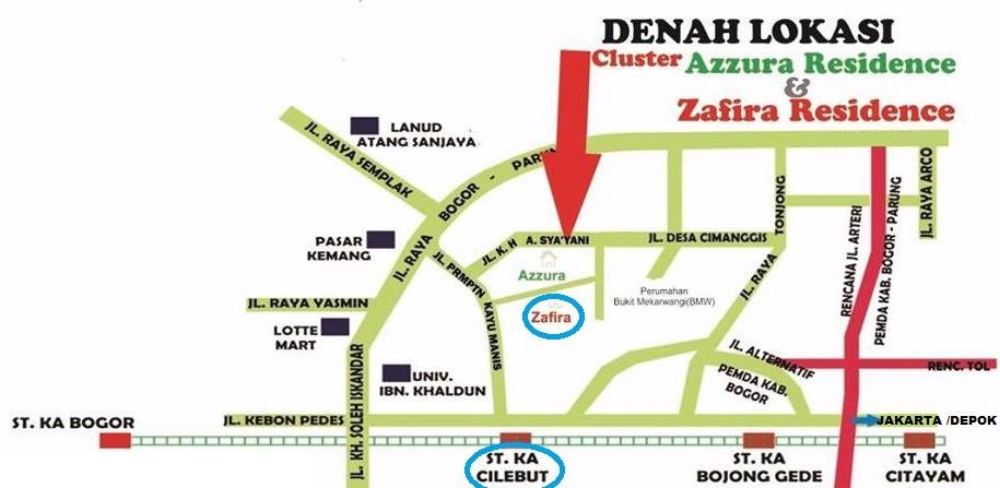 peta lokasi atau denah lokasi zafira