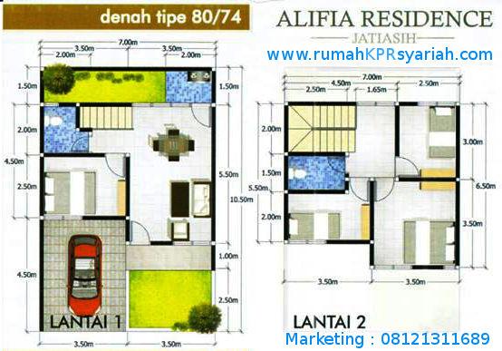 Denah Alifia Residence Jatiasih Bekasi