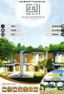perumahan tanpa riba bekasi Alifia Residence brosur