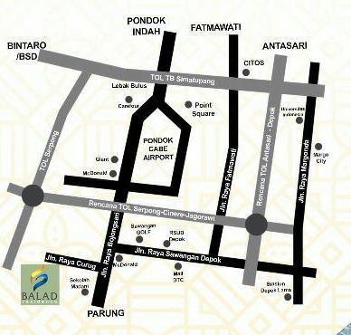 Denah Lokasi Balad Residence