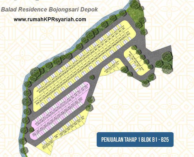 site plan balad residence depok bojongsari