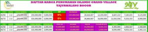 Price list Islamic Green Village