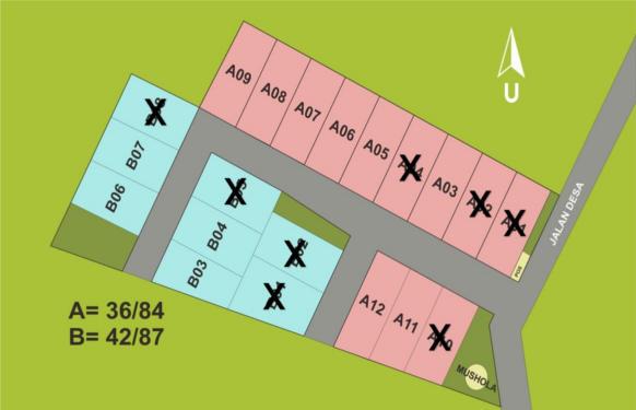 denah siteplan rumah syariah citayam audita6