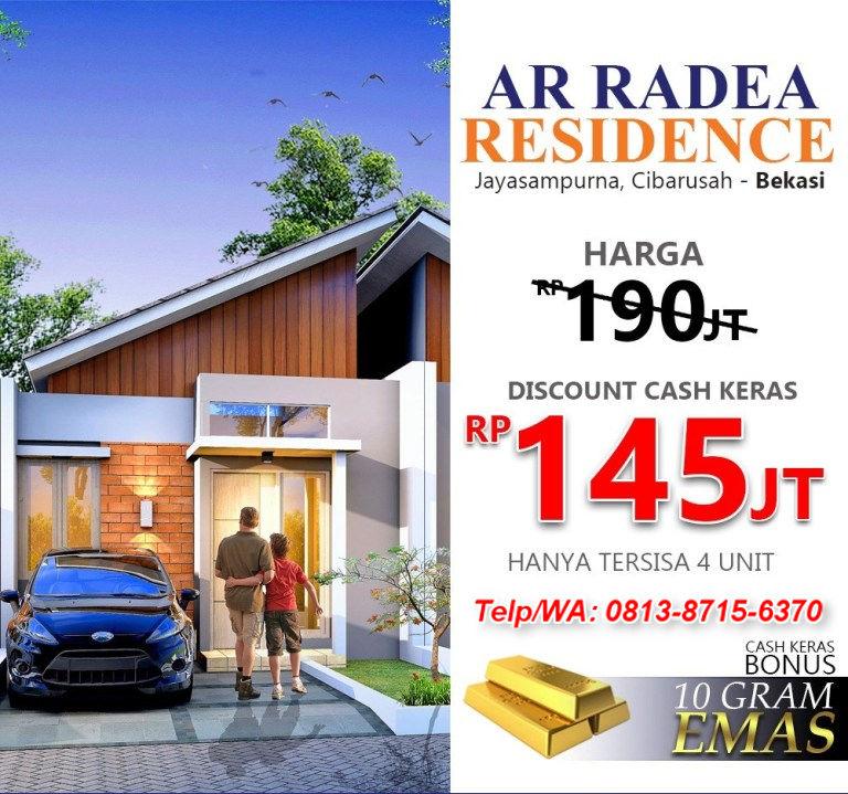 Promo rumah syariah cikarang bekasi ar radea residence 2020