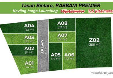 Tanah Bintaro Murah RABBANI PREMIER